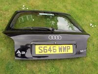 AUDI A3 1.8t 1996/2003 3 DOOR GENUINE REAR TAIL GATE BOOT LID COMPLETE in black