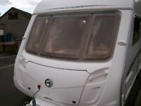 swift challenger 500 4 berth fixed bed full awning one owner mint condition seldome used