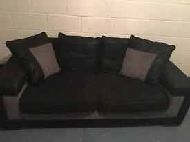 Black and grey sofa - excellent condition
