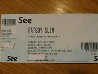 Fatboy Slim ticket Newcastle upon Tyne Friday July 29th