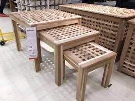 Brand New in Unopened box IKEA Skoghall Nest of 3 Tables (coffee table / side table / lamp table)