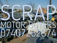 SCRAP CAR BUYERS TOP PRICE PAID RUNNER OR NON RUNNER
