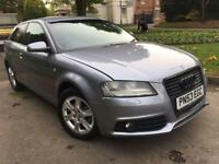 AUDI A3 2.0 TDI SE 53 REG 3 DOOR HATCHBACK FULL 2012 S LINE BLACK EDITION SPEC
