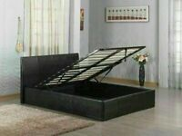 🔥🔥BRAND NEW FAUX LEATHER SINGLE/DOUBLE/KINGSIZE OTTOMAN STORAGE BED FRAME WITH MATTRESS OF CHOICE