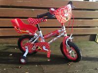 Girls Minnie Mouse bike LIKE NEW IMMACULATE!!!!