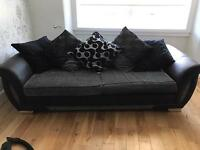 Three and four seater sofa (DFS).