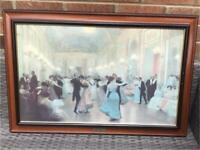 """Framed Canvas Painting """"An Elegant Soiree"""" by Victor Gilbert"""