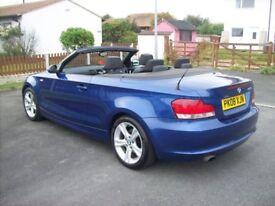 BMW 1 SERIES 120i se convertible 2008 half leather heated seats aircon 2 keys winter bargin px
