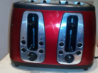 Russell Hobbs 19160 Heritage 4 Slice Toaster - Metallic Red--FAULTY