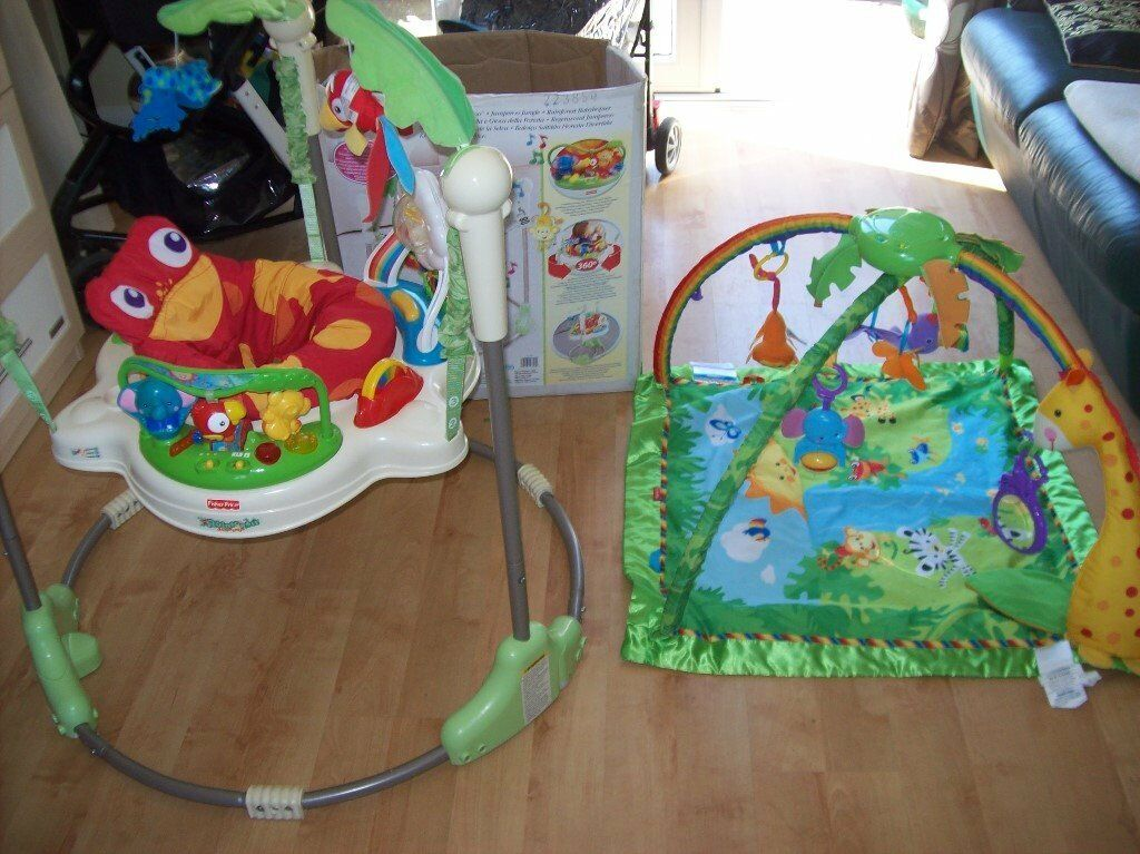 4 X Fisherprice Rainforest Baby Items Inc Jumperoo Kaboo Mobile Bedding Set Activity