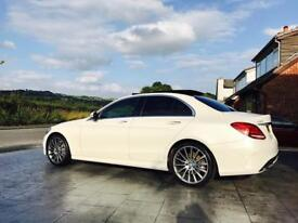 Mercedes C200 AMG line premium plus high spec 2.0 turbo diamond white