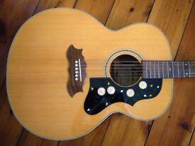 Antoria Jumbo (like Gibson J200) acoustic guitar for sale