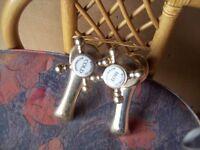 antique solid brass bath taps