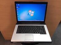 Toshiba Fast Laptop, 4GB Ram, 320GB, Dual-Core, Win 7, office, Very Good Condition