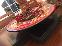 Glass display bowl table centrepiece - red Christmas 🎄