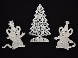 Christmas Tree, Mice Metal Cutting Die, Novelty Shapes, Craft, Xmas, Card Making