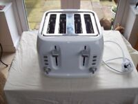 George 4 slice toaster in white