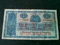 Old British Linen Bank £1 banknote
