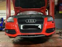 Audi A3 2010 black edition front bumper