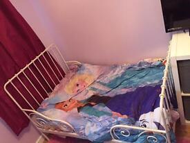 Kids white extendable bed frame
