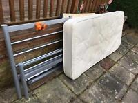 Used kids single bed and mattress free pick up only