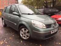 56 plate - renault grand scenic -1.6 petrol - 7 seater - one year mot - 2 keys - clean example