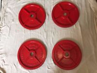 80 kg York Olympic Iron Plates 4 x 20 kgs
