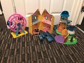 Peppa pig toys.