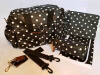 New Changing Bag - Black Polka Dot
