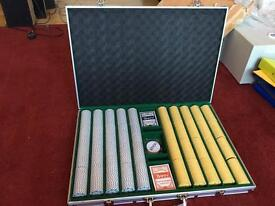 1000 pieces professional poker set in a case