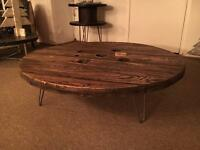 Large Cable Drum Coffee Table