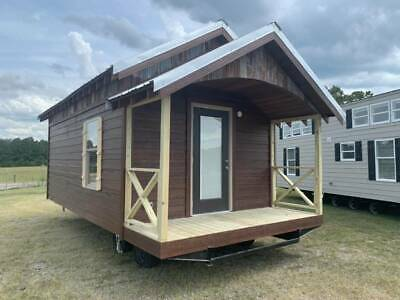 2021 Cabin 12x20 235 Sq Tiny Mobile Home Guest House Ansi Park Model All Usa