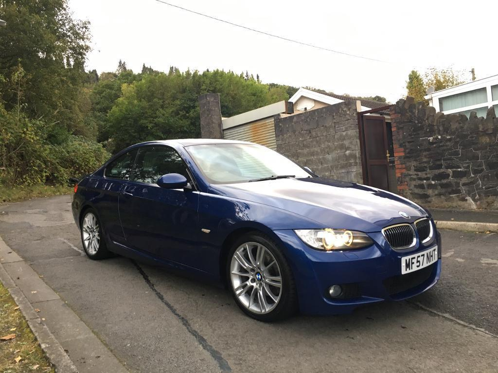 2007 57 bmw 320d m sport coupe e92 stunning condition le mans blue 177bhp diesel in aberdare. Black Bedroom Furniture Sets. Home Design Ideas