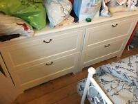 IKEA drawers and bedside tables