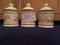Tea, coffee & sugar pots