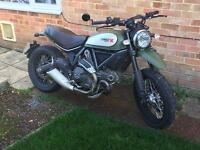 Ducati scrambler urban enduro low mileage