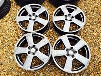 "18"" GENUINE AUDI A3 A4 A5 SLINE ALLOY WHEELS SET OF 4"
