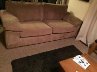 2 Three seater couches