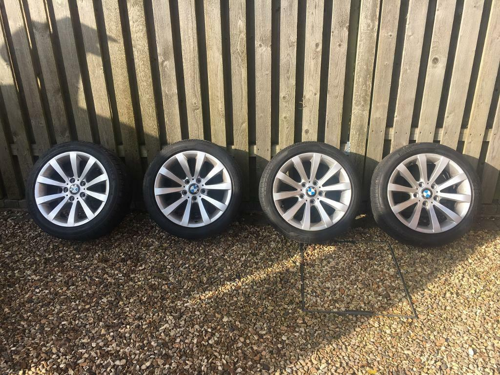BMW 17inch alloy wheels with tyres