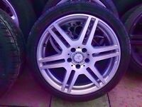Mercedes Genuine Amg SINGLE Alloy FRONT OR REAR 8J 8.5J 9J 1x wheel + Tyre 18'' CAN POST