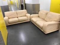 2x leather sofa, Free delivery