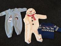 Boys Christmas clothes bundle 3-6 months