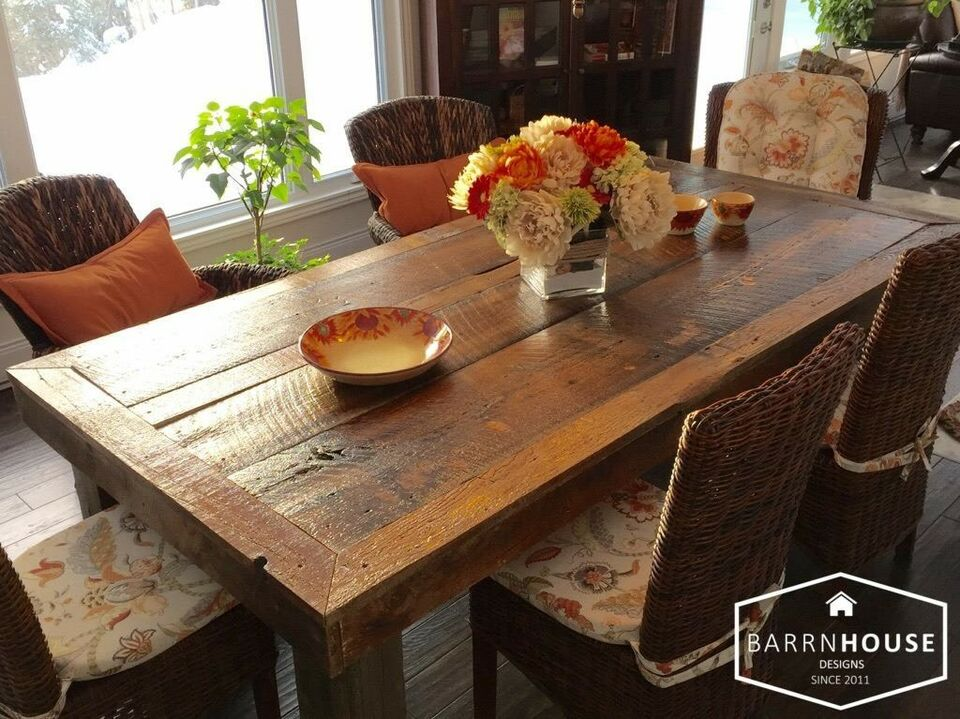 HARVEST Dining TABLES, Made With Century Old REAL ...