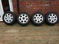 "Mercedes 16"" alloy wheels and tyres"