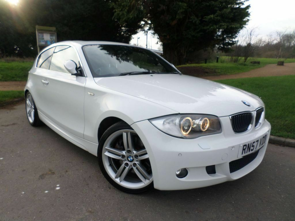 2008 57 bmw 130i m sport facelift auto red leather fully loaded sat nav sunroof 1 lady owner. Black Bedroom Furniture Sets. Home Design Ideas