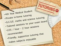 GCSE Maths and Science Private In-Home Tutoring