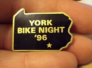 Harley-Davidson-York-PA-Bike-Night-1996-Pin-96-flstc-softail-dyna-XL-HOG-fxdwg