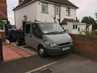 Ford transit double cab tipper, high sides also available