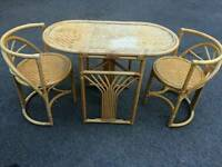 Wicker table and chairs set