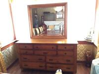 Large wooden dressing table/wardrobe